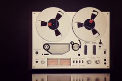 Analog Stereo Open Reel Tape Deck Recorder Vintage Closeup Stock Photography