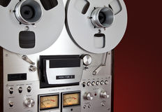 Analog Stereo Open Reel Tape Deck Recorder Vintage Stock Photo