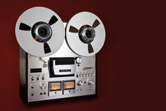 Analog Stereo Open Reel Tape Deck Recorder Vintage Royalty Free Stock Photos