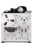 Analog Stereo Reel Tape Deck Recorder Player Stock Image