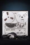 Analog Stereo Reel Tape Deck Recorder Player Stock Photo