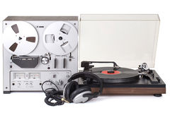 Analog Stereo Reel Tape Recorder Player Royalty Free Stock Images