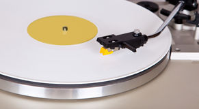 Analog Stereo Turntable Vinyl Blue Record Player Headshell Cartr Royalty Free Stock Photography