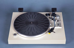 Analog Stereo Turntable Vinyl Blue Record Player Royalty Free Stock Photography