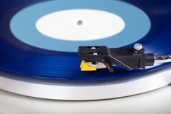 Analog Stereo Turntable Vinyl Record Player. Closeup stock images