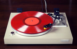 Analog Stereo Turntable Vinyl Record Player Stock Images