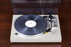Analog Stereo Turntable Vinyl Record Player Stock Photography