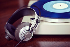 Analog Stereo Turntable Vinyl Record Player Stock Photos