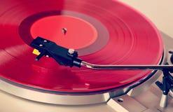 Analog Stereo Turntable Vinyl Record Player Royalty Free Stock Photos