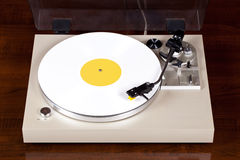 Analog Stereo Turntable Vinyl Record Player Stock Image