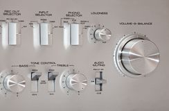 Analog Stereo Volume Knob Control Royalty Free Stock Image