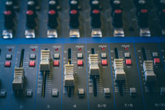 The analog studio mixer Stock Photos