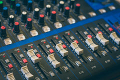 The analog studio mixer Stock Photography