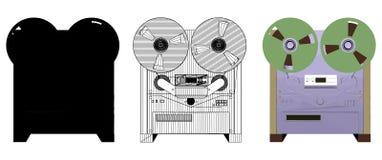 Analog Tape Recorder Illustration Vector Stock Photos