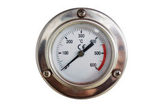 Analog thermometer circular isolated Royalty Free Stock Image