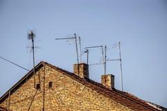 Analog tv antenna Stock Images