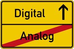 Analog und digital lizenzfreie abbildung