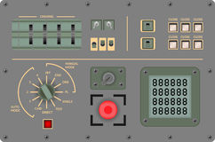 Analog vintage control panel - Vector illustration Royalty Free Stock Photos