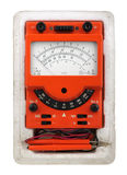 Analog vintage multimeter Stock Photo