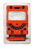 Analog vintage multimeter Stock Photo