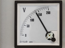 Analog volt meter Stock Photos