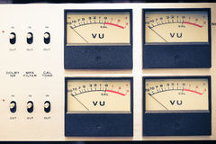 Analog volume meter Stock Photo