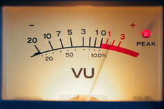 Analog volume meter Royalty Free Stock Photo