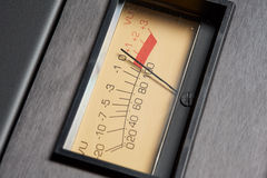 Analog VU Meter on audio hardware Royalty Free Stock Photo