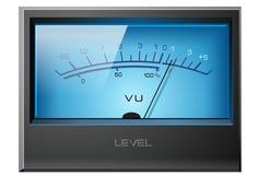 Analog VU Meter Blue. Detailed stock illustration