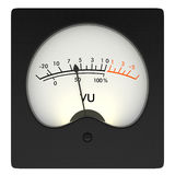Analog VU meter Royalty Free Stock Photography