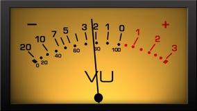 Analog VU Meter with Retro light stock footage