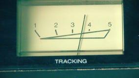 Analog Vu-spårningmeter för VHS bandet lager videofilmer