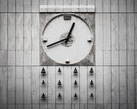 Analog Wall Clock With Bells Stock Photo