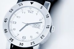 Analog watch in white Royalty Free Stock Photos