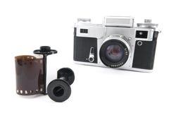 Analoge afstandsmetercamera met 35mm film Stock Foto