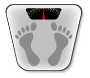 Analoge badkamersschaal - vector Royalty-vrije Stock Foto