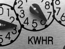 Analoge Elektrische meter Royalty-vrije Stock Foto's