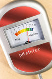 analoge grondph meter Royalty-vrije Stock Fotografie