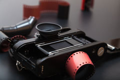 Analoge reflexcamera met Broodjesfilm Royalty-vrije Stock Foto