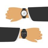 Analoge und intelligente Uhr vektor abbildung