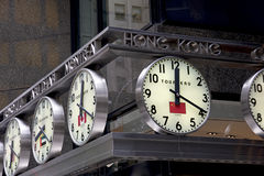 Analoge Weltborduhren - NYC Lizenzfreies Stockbild