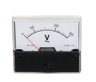 Analoger Voltmeter stockbild
