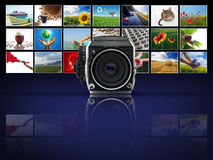 Abalogue camera with photographs Stock Image