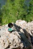 Analogic Compass Abandoned on the Rocks Stock Images