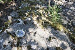 Analogic Compass Abandoned on the stone Royalty Free Stock Photos