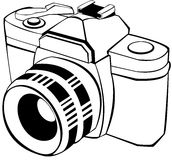 Analogic reflex vector. Vector draw of an analogic reflex Royalty Free Stock Photos