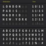 Analogowa lotniskowa tablica wyników Zdjęcie Royalty Free