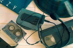 Analogowa technologia 80's zdjęcia royalty free