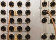 Analogowi włączniki na rocznika soundboard obraz royalty free