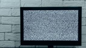 Analogowy TV sygnał z glitching skutkiem Pętli wideo Salowy Tv egzamin próbny up zbiory